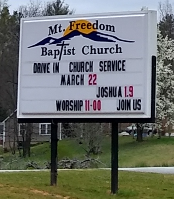 Mt. Freedom BC sign