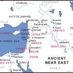 """Map of Andient Middle East showing the homelands ofall the """"ites"""""""