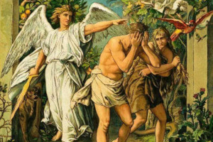 Painting - Expulsion from Eden