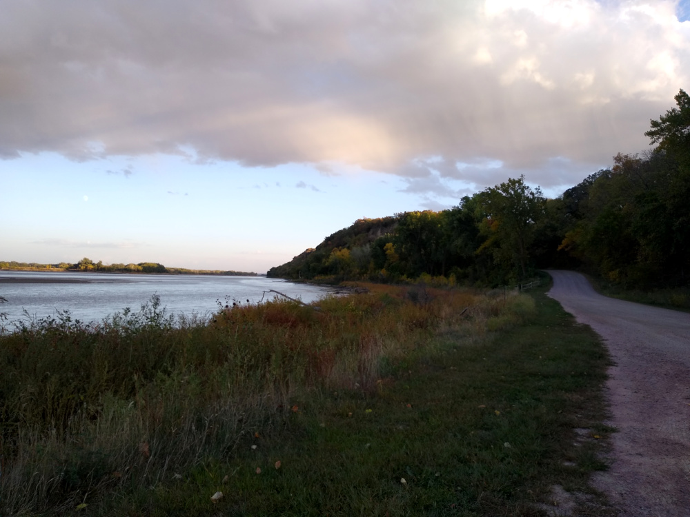 Missouri River looking downstream from Ponca State Park, NE