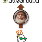 GoDaddy logo to SiteGround logo with arrow behind The Surly Curmudgeon logo