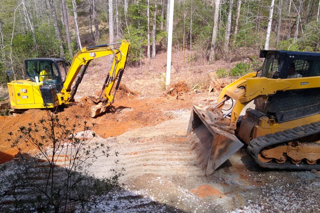 Digging out the foundation for the addition basement.