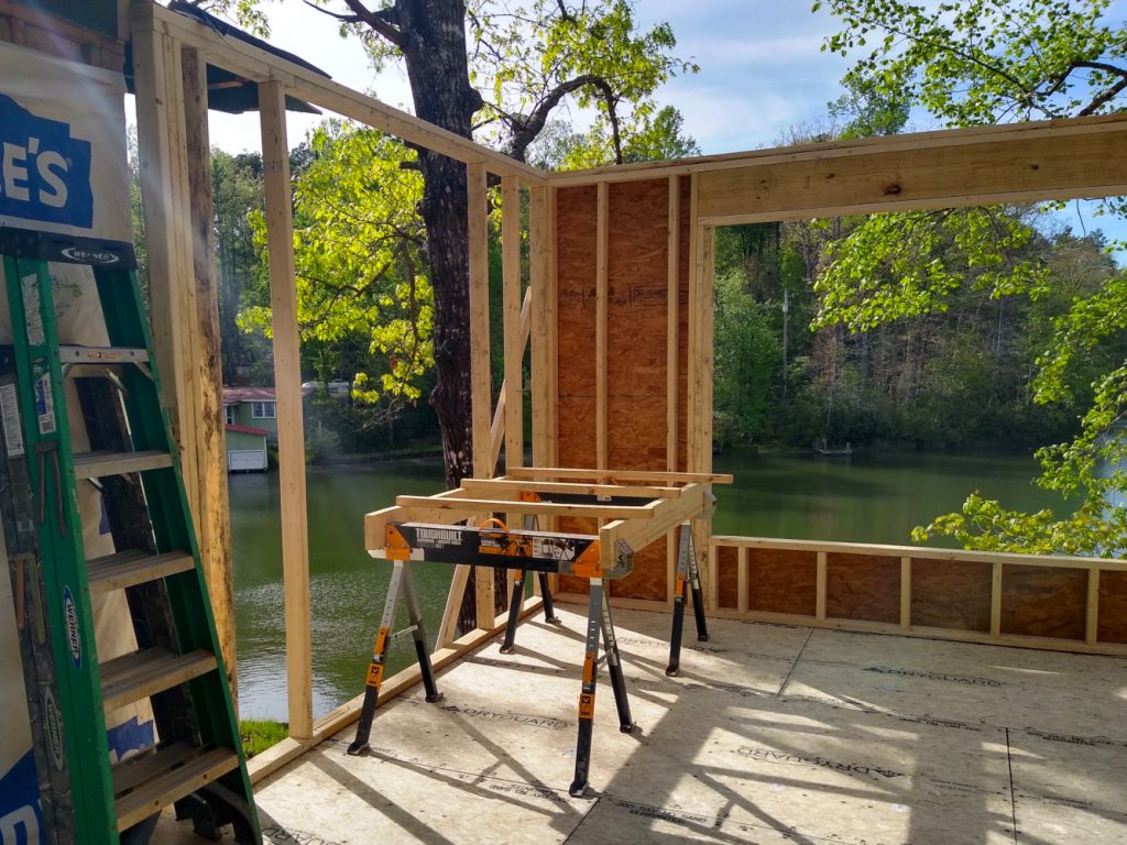 Addition framing northwest corner