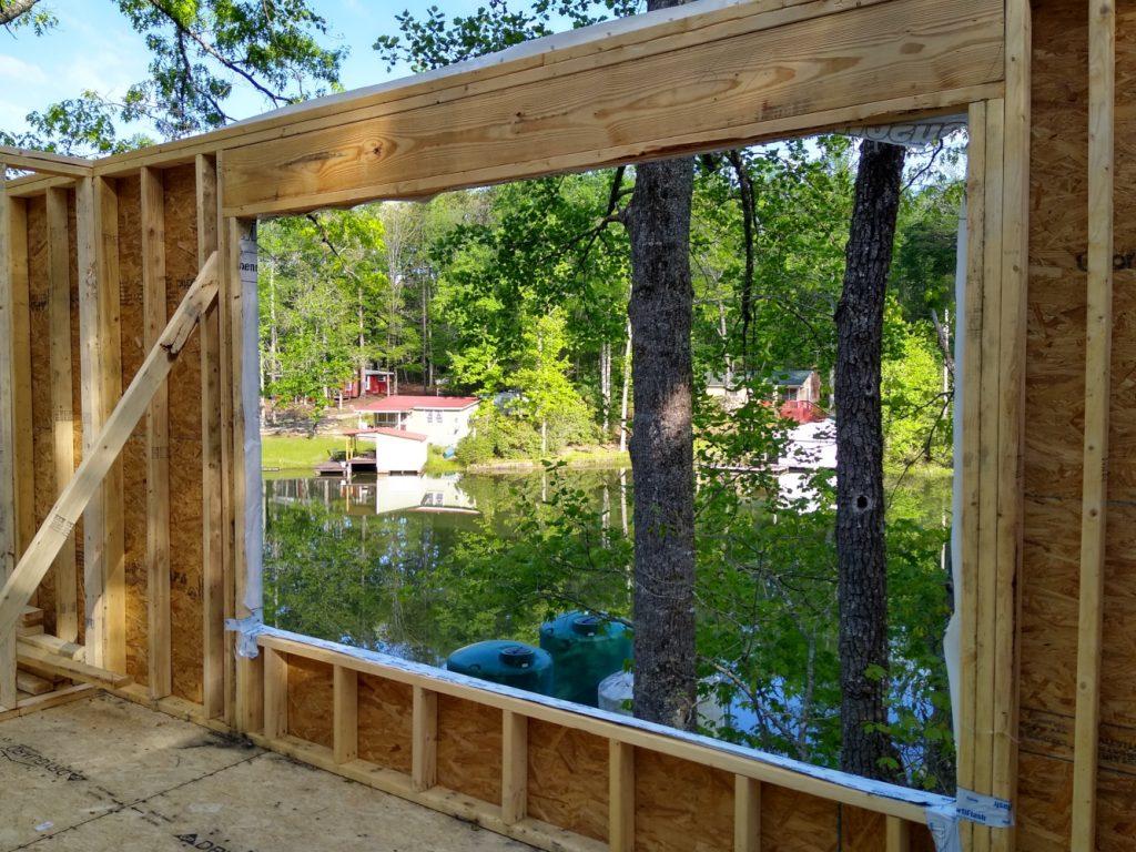 View through master bedroom window