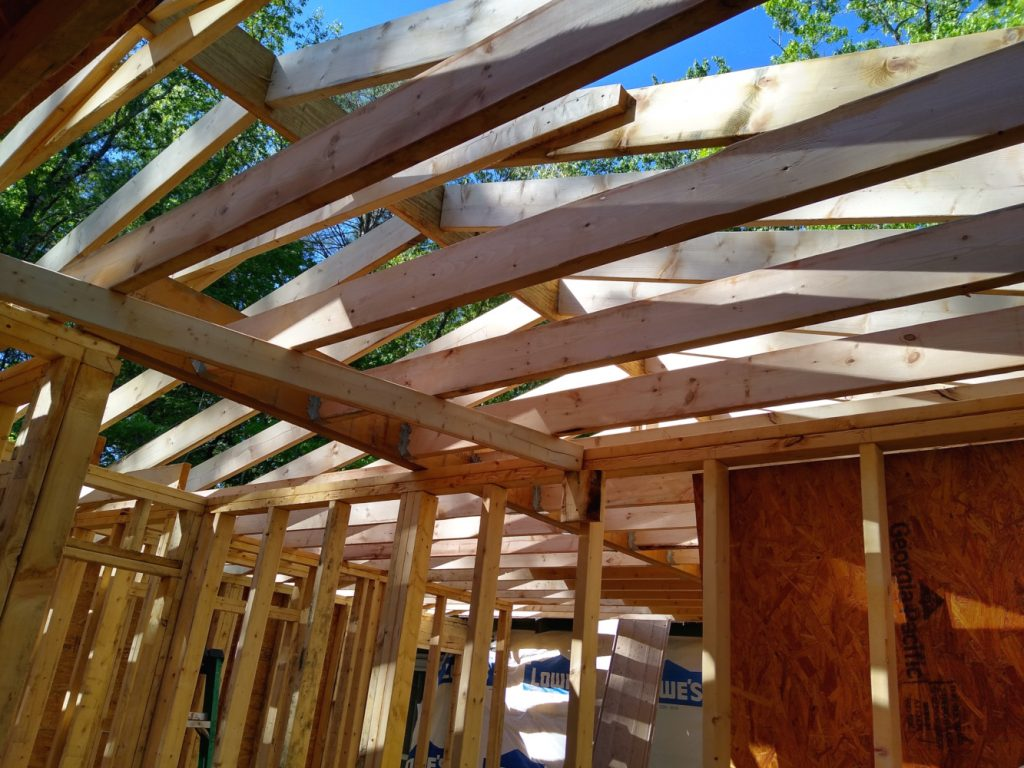 Joists and rafters over master bedroom