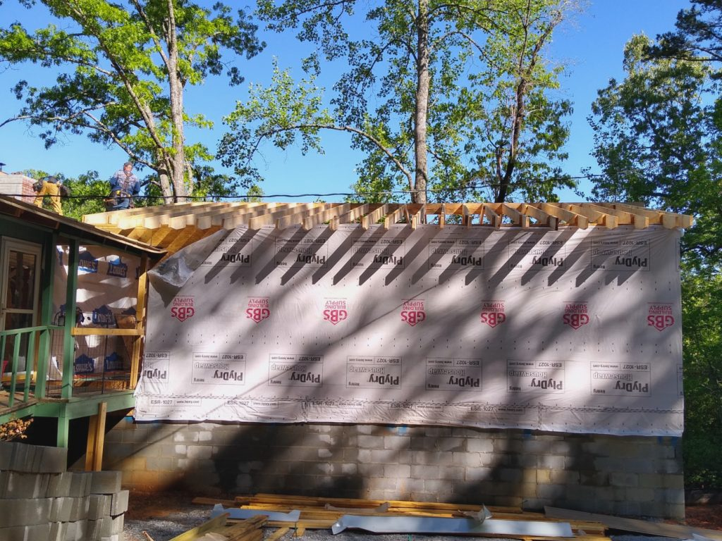 Addition ridge and rafters