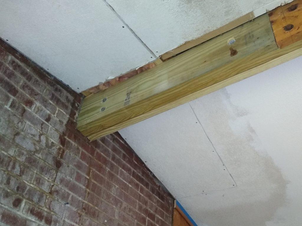 Old ridge beam repairs