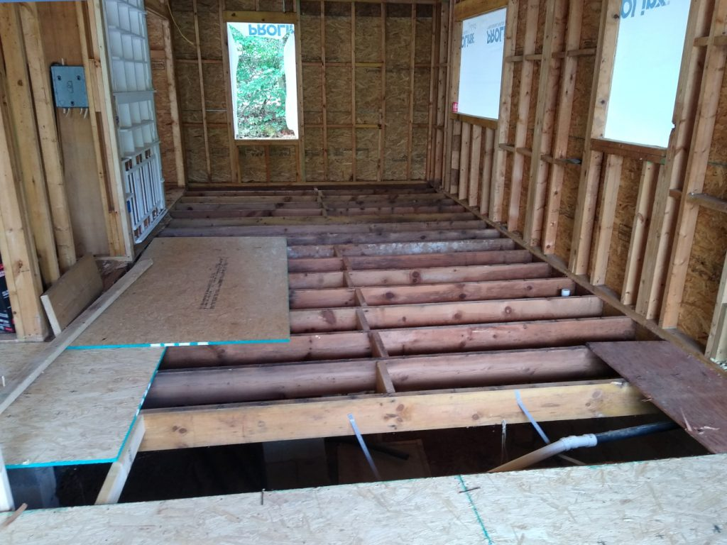 Kitchen and pantry floor joists