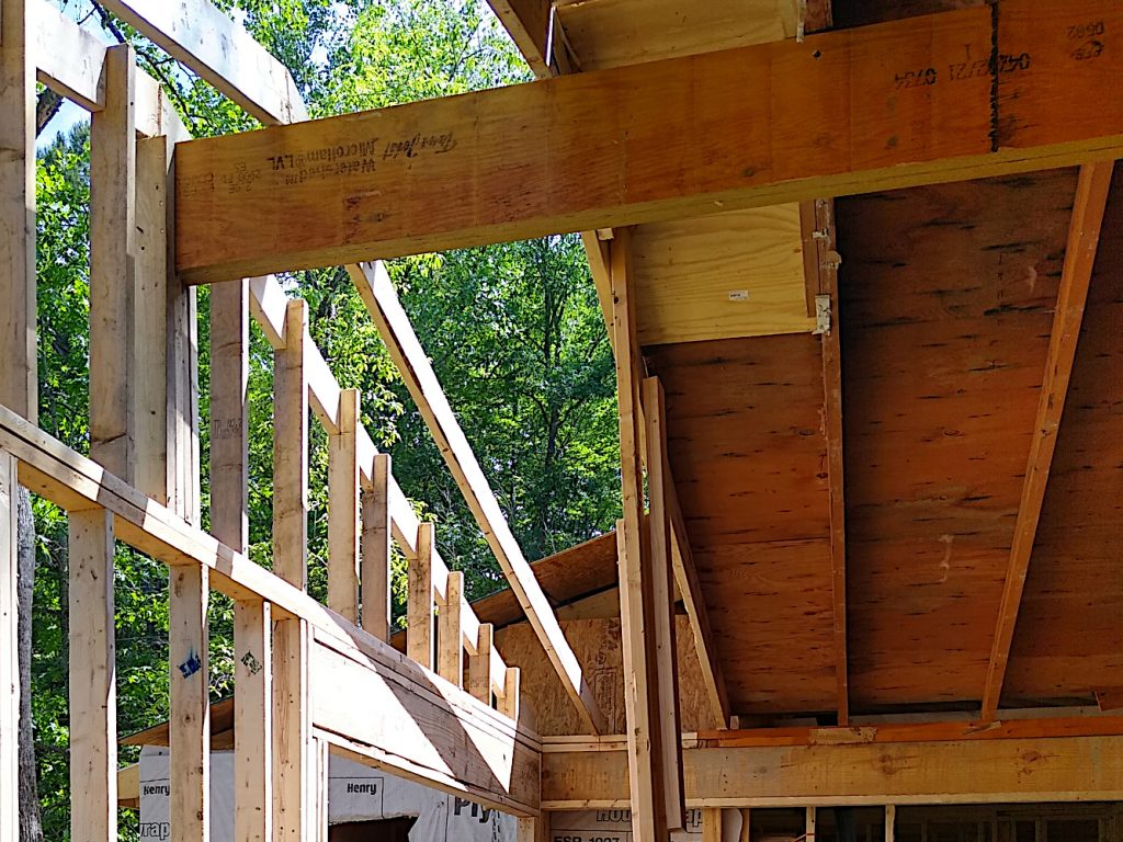 New ridge beam front wall support