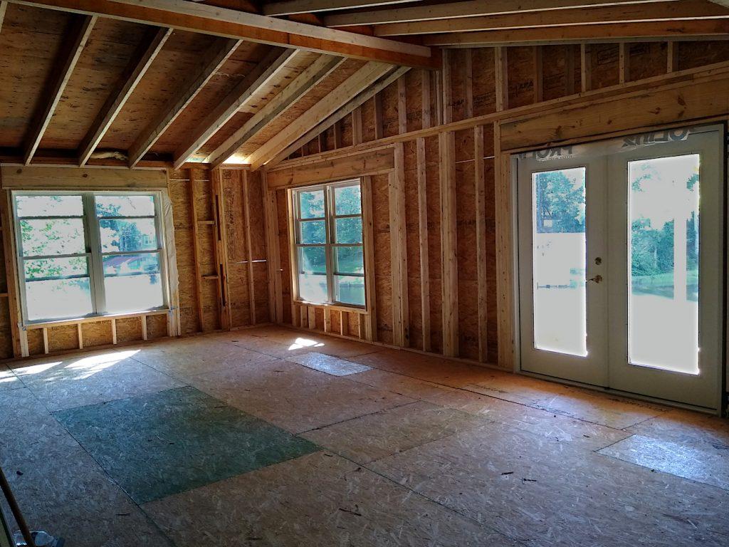 Living Room Windows & Balcony Door