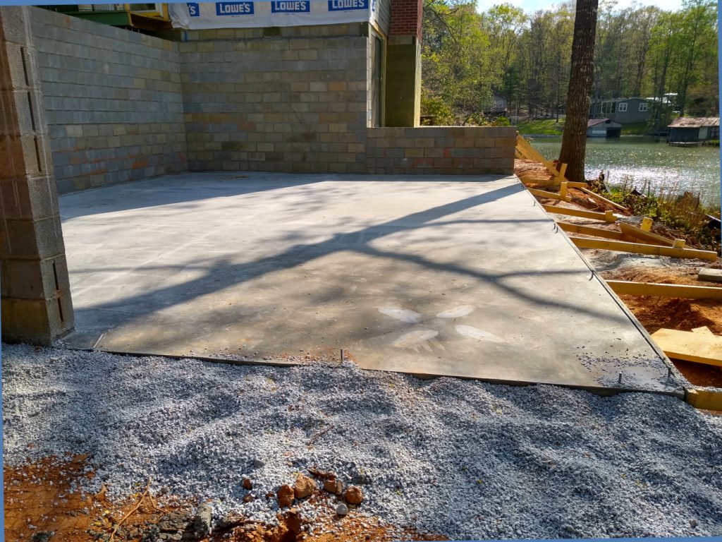 Basement foundation looking northwest