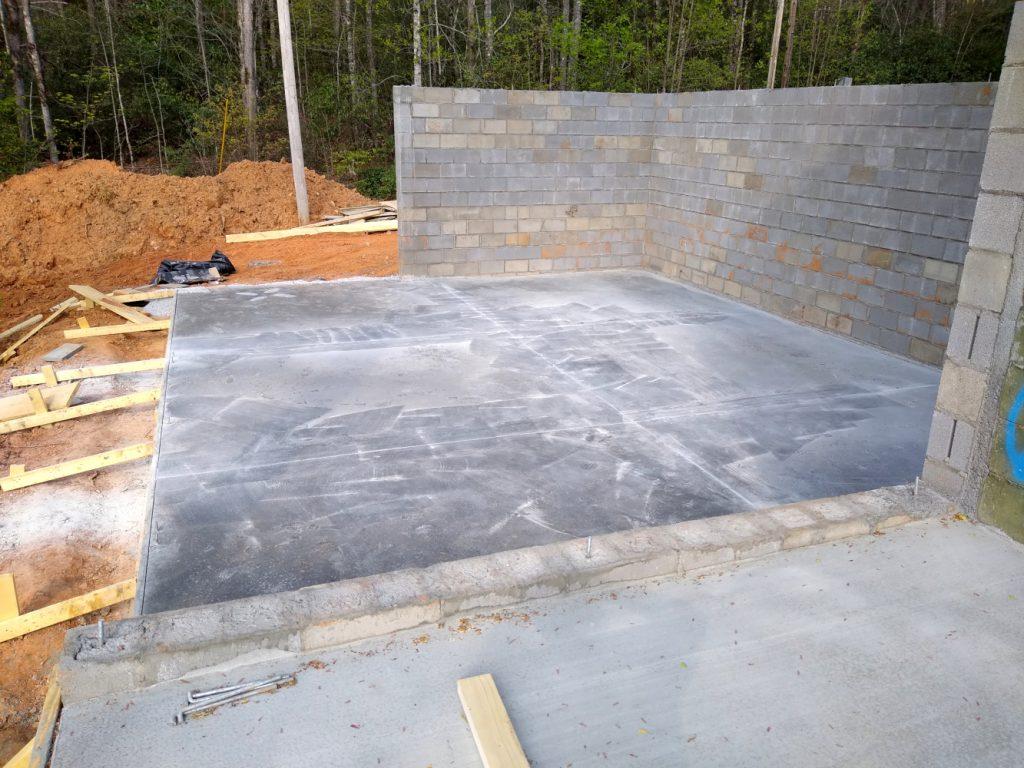 Finished basement foundation