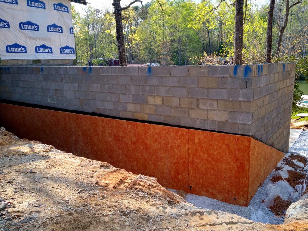 Basement waterproofing - sidewall grade