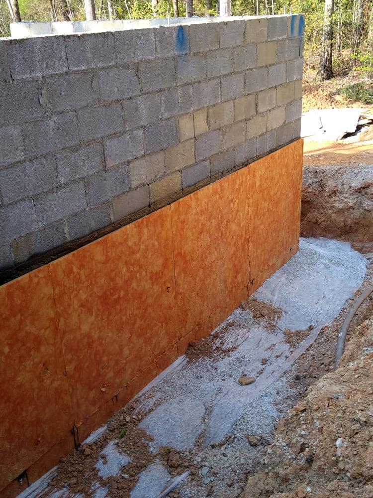 Basement wall waterproofing - southeast corner