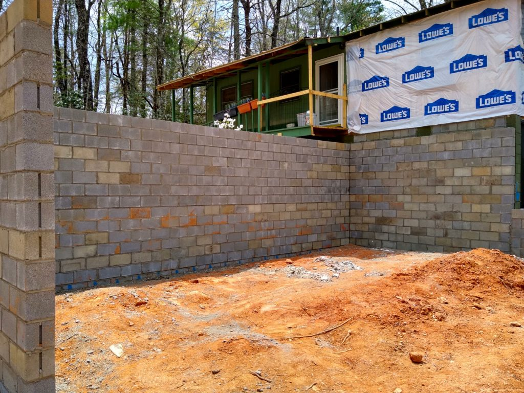 Completed basement walls