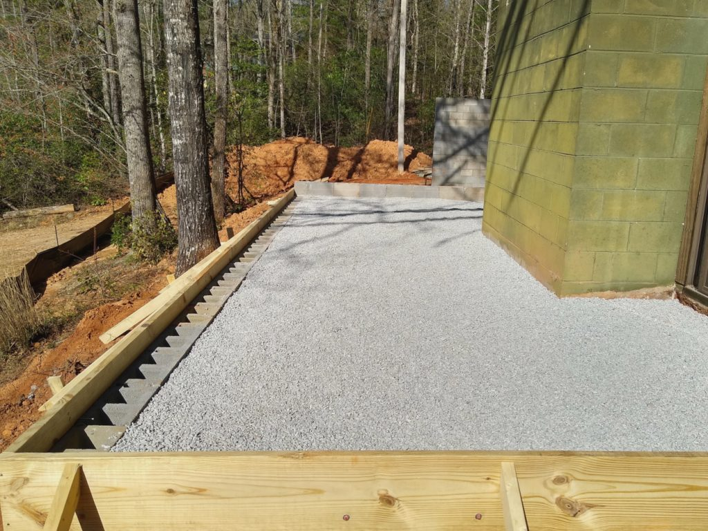 Patio base ready for concrete